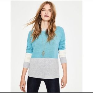 Boden Colorblock Lowick Cashmere/Wool Sweater